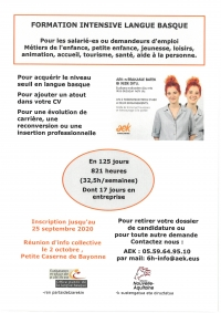 Formation intensive langue Basque